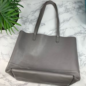 ❄️Gianni Bernini Gray Leather Tote